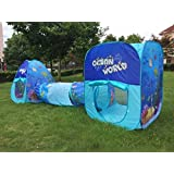 Outdoor Indoor Play House Tent Tunnel,LifeVC® Playhouse Set for Toddlers Child Kids(Ocean World) - Perfect Christmas Gift For Child
