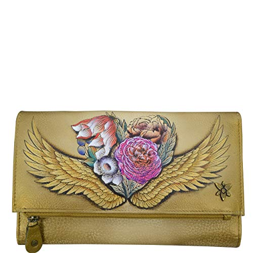 Anuschka Hand Painted Leather Women's Three Fold Clutch
