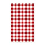 CafePress Red Gingham Pattern Decorative Area Rug, Fabric Throw Rug