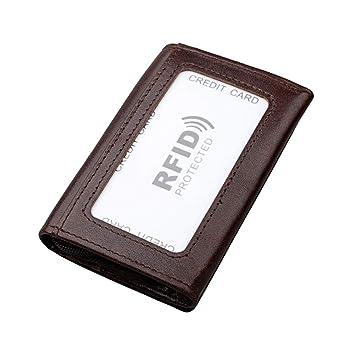 WANGXN Billetera para Hombres con Dinero Clip RFID Bloqueo ...