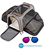 MOVEPEAK Pet Carrier for Cats,Dogs,Puppy with Airline Approved – Expandable Soft Sided Pet Tote Carriers Bags,Folding Pets Kitten Cat Carriers Bags,Portable Pet Supply Carrier Bags for Puppies