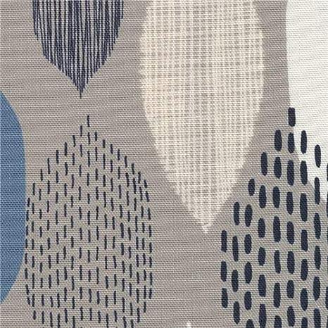 tela de algodón gris con formas de hojas (por 0.5 yardas unidad ...
