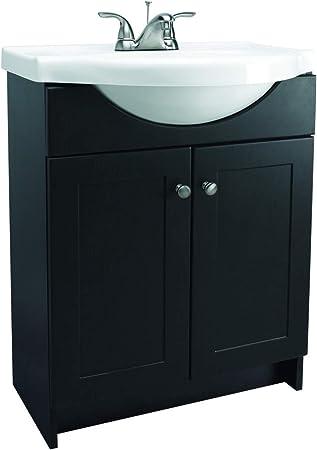 Design House 541680 Vanity Combo Espresso Vanity Cabinet With 2 Doors 25 Inch By 18 Inch By 31 5 Inch Bathroom Vanities Amazon Com