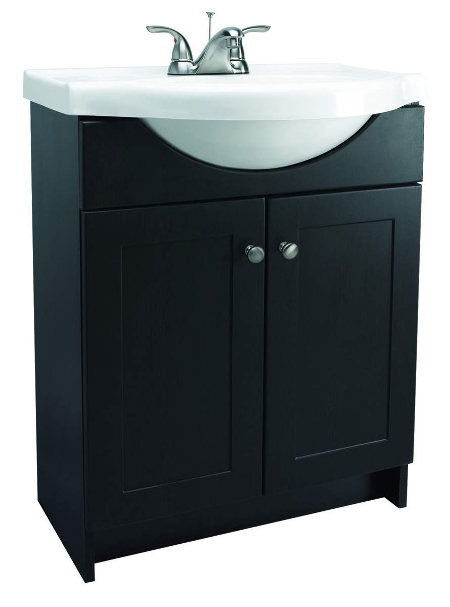 Design House 541680 Vanity Combo Espresso Vanity Cabinet with 2-Doors, 25-Inch by 18-Inch by 31.5-Inch
