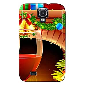 Christmas Eve Red Shock Absorption For Sumsang Galaxy S4 Protective Case