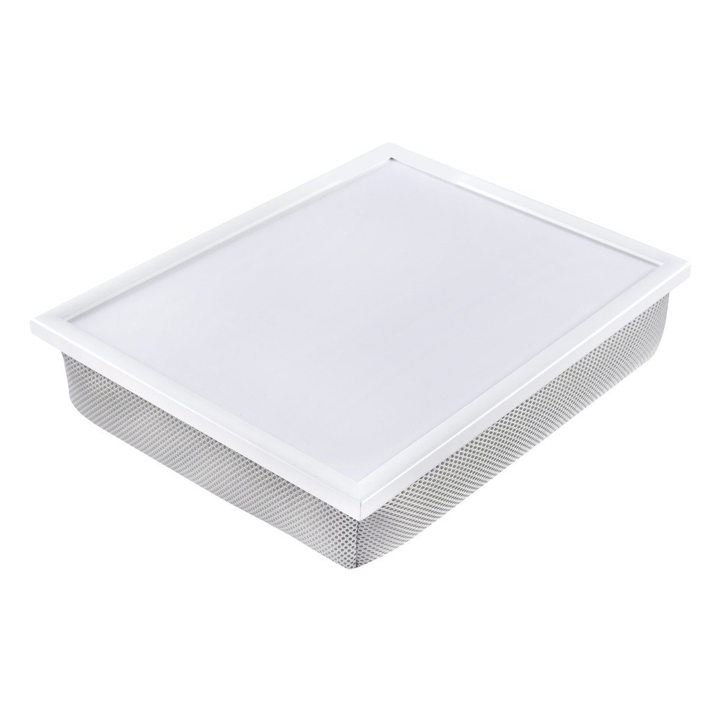 WELLAND Multi Tasking Bed Serving Tray,Laptop Desk for Bed (Grey) 16 1/2'' x 12 1/2'' x 3 3/4''.