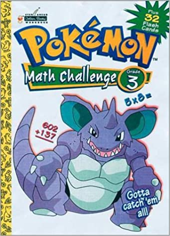 Pokemon Math Challenge Grade 3 Plus 32 Flash Cards: Golden Books ...