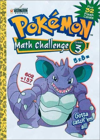 Pokemon Math Challenge Grade 3 Plus 32 Flash Cards