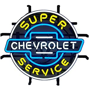 Neonetics 5CHEVYX Cars and Motorcycles GM Super Chevrolet Service Chevy Neon Sign