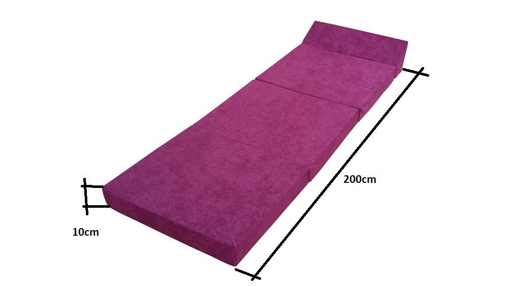 Natalia Spzoo Colchón Plegable Cama de Invitados colchón de Espuma 200x70 cm FM (Violeta)