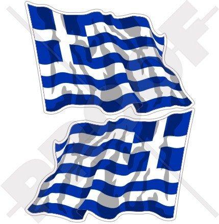 GREECE Greek Waving Flag Hellas, Hellenic 4,7