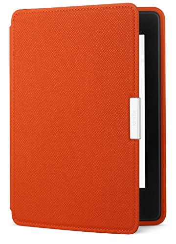 Amazon Kindle Paperwhite Leather Case, Persimmon - fits all Paperwhite generations prior to 2018  (Will not fit All-new Paperwhite 10th generation) (Leather Amazon Kindle Cover)