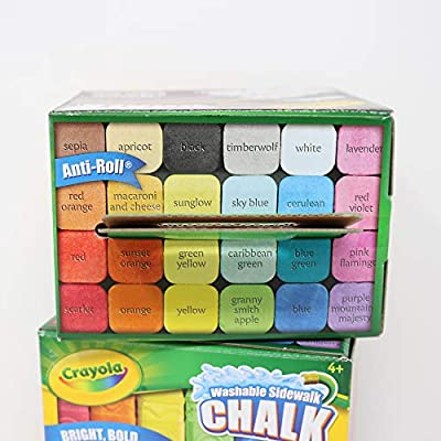 Crayola Washable Sidewalk Chalk Art - 48 Pieces in Assorted Colors - 2 Sets of 24: Office Products