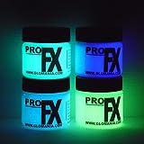 4 Color Set Glow in the Dark Paint, Luminous, Glowing 1/2oz (2oz)