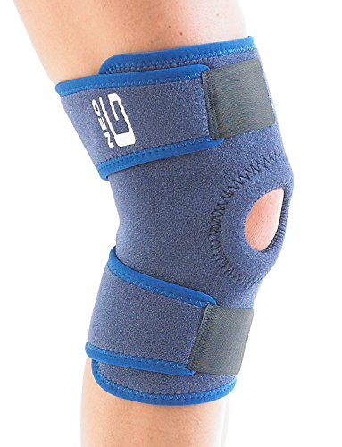 Neo G Open Knee Brace - Support For Arthritis, Join Pain Relieve, Meniscus Pain, Recovery, Sports, Basketball, Running - Adjustable Compression - Class 1 Medical Device - One Size - Blue (Best Knee Support For Arthritis Uk)