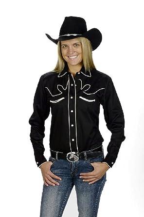 4a855404 Sunrise Outlet Women's Cotton Retro Western Cowboy Shirt