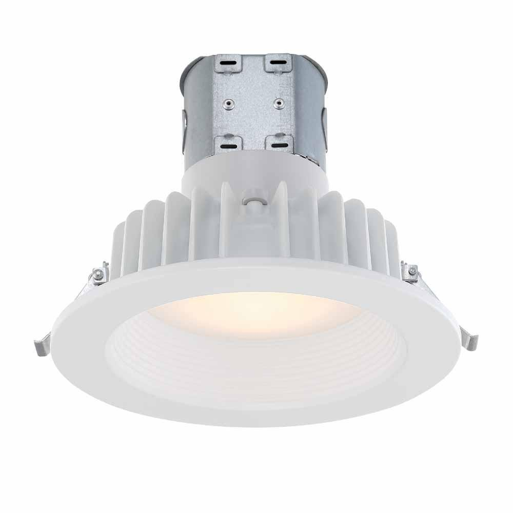 Commercial Electric Easy Up 6 in. Soft White Integrated LED Recessed Baffle Kit