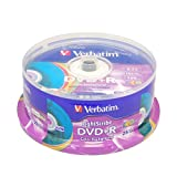 Verbatim 16x DVD+R LightScribe Color Backgound Recordable Discs, 4.7GB/120min - 25 Pack (Blank Media)