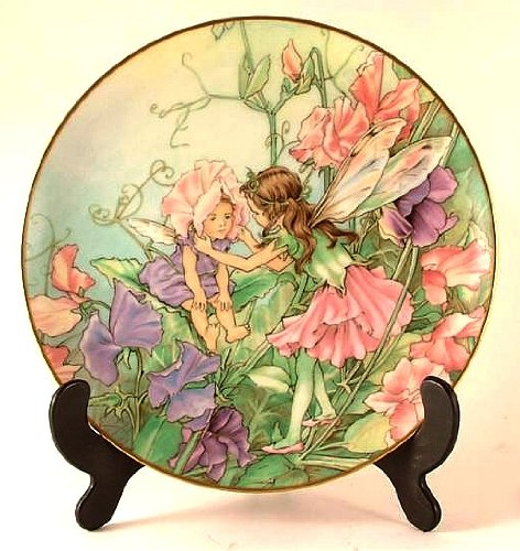 - Heinrich Flower Fairies Collector plate - The Sweet Pea Fairy - by Cicely Mary Barker - CP987