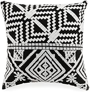 Vera Bradley A754A16BKICE Satin Stitch Embroidered Decorative Pillow, 16X16