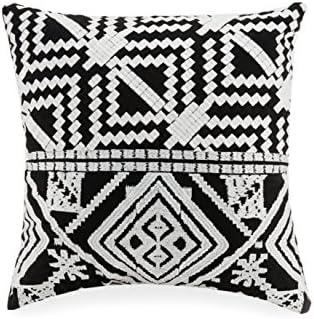 Vera Bradley A754A16BKICE Satin Stitch Embroidered Decorative Pillow