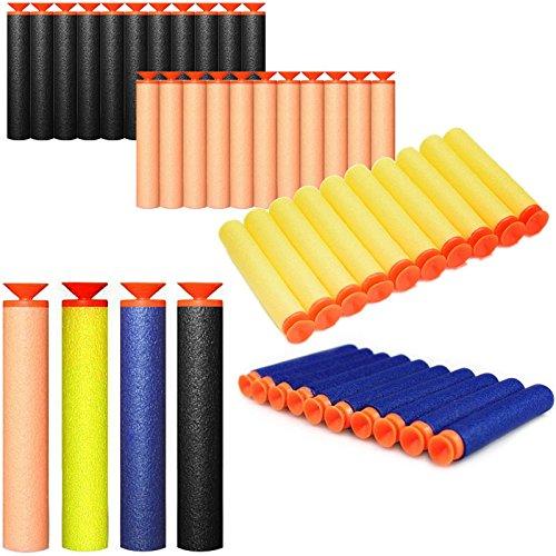 GFDay Universal Standard Foam Darts 7.2cm Refill Bullet Suction Darts for Blasters, Toy Gun Refill Pack (Blue, 20 pcs)