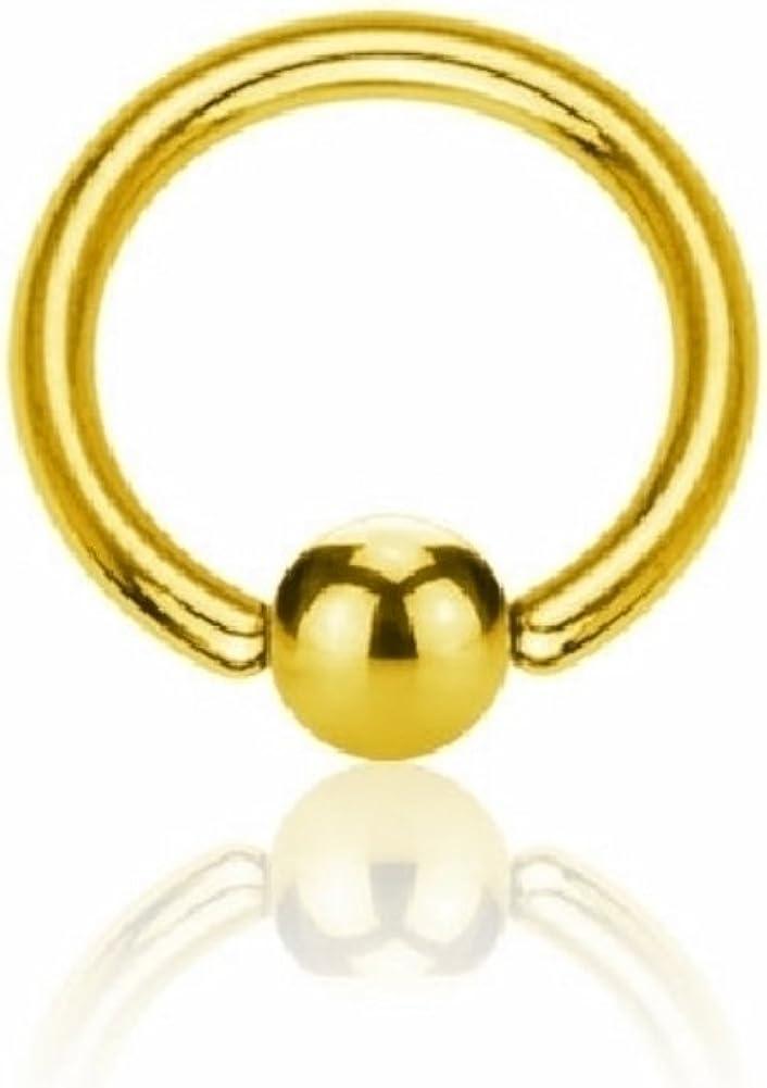 Anillo de cierre de bola-Oro PVDTabique Nariz Oreja PezónReino Unido joyas de cuerpo