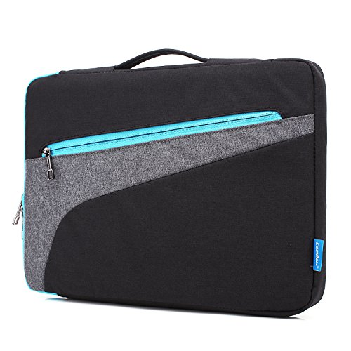 CoolBell 13.3 Inch Laptop Sleeve Case With Handle Nylon Laptop Sleeve Bag With accessories Front Pocket For Acer / Macbook Pro / Macbook Air / Asus / Dell / Lenovo / Men/Women (Black) (Laptop Bag With Handle)
