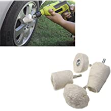 ALAVENTE Buffing Wheel, White Flannelette Polishing Wheel Cone T-shaped Wheel Grinding Head - 4 PCS