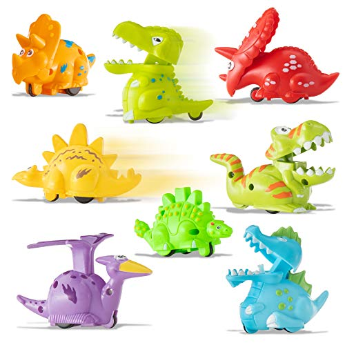 - Prextex Wind Up Toys Mini Dinosaur Toys Wind-up Toys for Kids Party Favors - 8 Pack