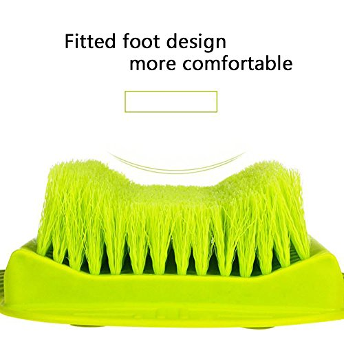 Jaxbo Shower Foot Scrubber Brush with Suction Cups for Deep Clean Scrubber Massager (Green) by Jaxbo (Image #2)