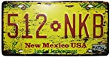 ERLOOD New Mexico USA 512NKB Retro Vintage Auto License Plate Tin Sign Embossed Tag Size Home Pub Bar Decor 6 X 12