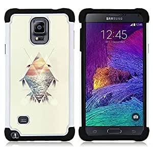 For Samsung Galaxy Note 4 SM-N910 N910 - polygon sunset sea summer surf feather Dual Layer caso de Shell HUELGA Impacto pata de cabra con im??genes gr??ficas Steam - Funny Shop -