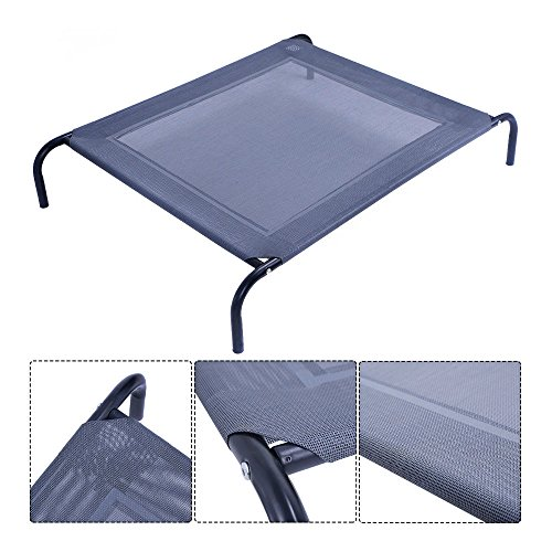 New Large Dog Cat Bed Elevated Pet Cot Indoor Outdoor Camping Steel Frame Mat