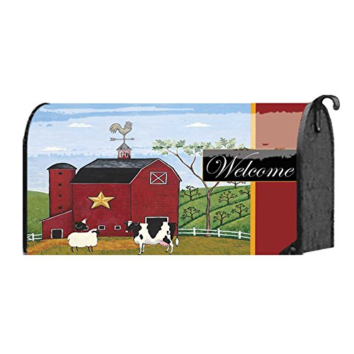 folksy-barnyard-with-dairy-cow-sheep-and-chicken-22-x-18-standard-size-mailbox-cover