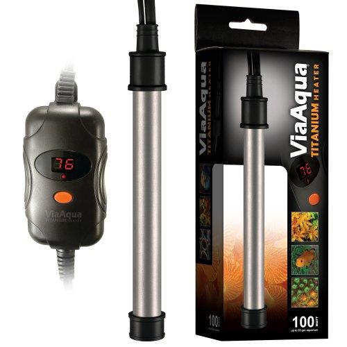 ViaAqua Titanium Aquarium Heater, 100-Watt