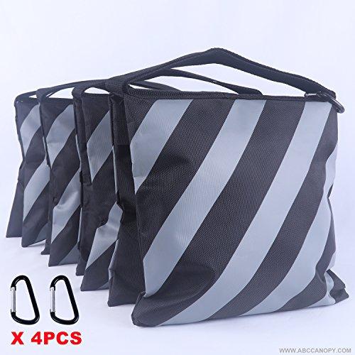 ABCCANOPY Sandbag Saddlebag Design 4 Weight Bags For Photo Video Studio Stand (Gray)
