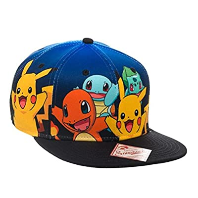 Pokemon Group Gradient Snapback Hat Size ONE SIZE from Nintendo