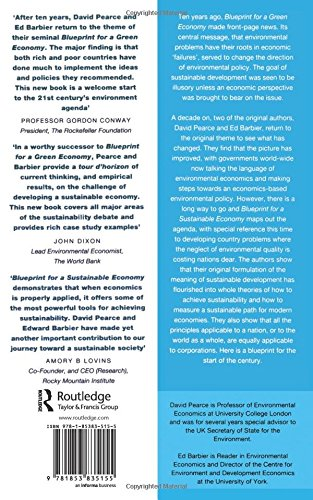 Blueprint 6 for a sustainable economy blueprint series volume 6 blueprint 6 for a sustainable economy blueprint series volume 6 david pearce edward b barbier 9781853835155 amazon books malvernweather Gallery