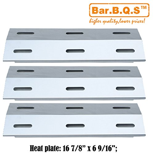 Bar.b.q.s 99341(3-pack) Stainless Steel Gas Grill Heat Plate , Heat Tent,Heat Shield, Burner Cover Replacement Parts for Ducane Gas Grill Models: 30400040, 30400045, 30400046, 3200, 3400, 4200