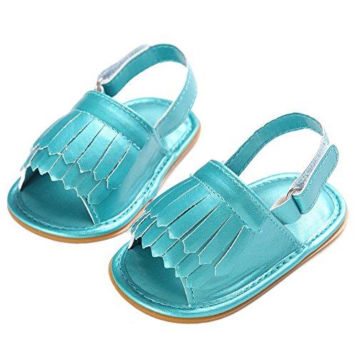 Pueri Zapatos para Bebés Niñas Primer Paso Zapatos de Suela Blanda Princesa Recién Nacido Verde
