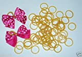 Pack of 1,000 Dog Hair Bow Rubber Bands 1/2 Inch highly elastic and heat stablized for making double looped bows