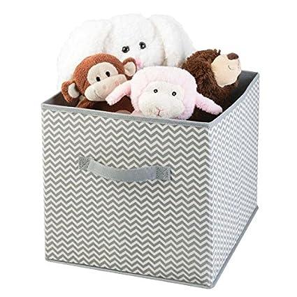MetroDecor mDesign Caja para organizar Juguetes - Caja de Tela para artículos de bebé y niños