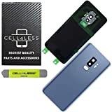 CELL4LESS Back Glass Cover Back Door w/Pre-Installed Camera Frame l Adhesive - Removal Tool - Camera Lens & Frame Compatible Fit for Samsung Galaxy S9+ Plus - All Models G965 All Carriers (Blue)