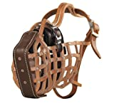 Dean & Tyler D&T Guardian Muzzle Malinois M The Guardian Leather Muzzle, No. N6-Malinois Male, Brown