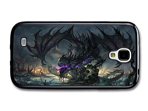New Goth Scary Dark Purple Dragon Tattoo Artwork case for Samsung Galaxy S4