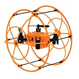 Original Helic Max Sky Walker 1336 Mini 2.4G 4CH 3D Eversion Flying and Running RC Quadcopter with Ball Shaped Protector