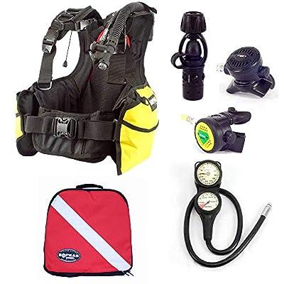 Sopras Sub Open Water Package Medium Dive Center Bcd Regulator Octo Console Gauge Free Regulator Bag Scuba Diving Bundle Kit