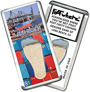 "product image for Long Beach""FootWhere"" Souvenir Fridge Magnet (LB202 - Seaport)"