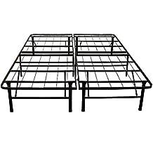 Classic Brands Hercules Heavy-Duty 14-Inch Platform Metal Bed Frame | Mattress Foundation, Twin